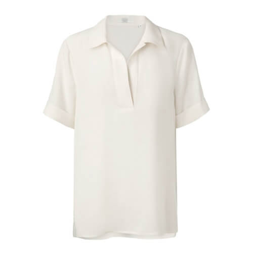 YAYA Shirt Cremé mit V-Ausschnitt