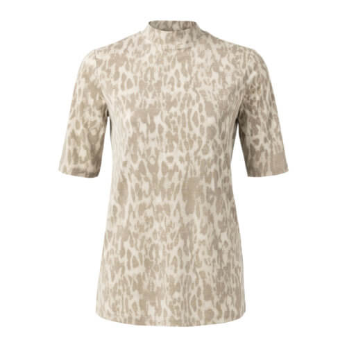 YAYA Shirt Animalprint mit hohem Kragen