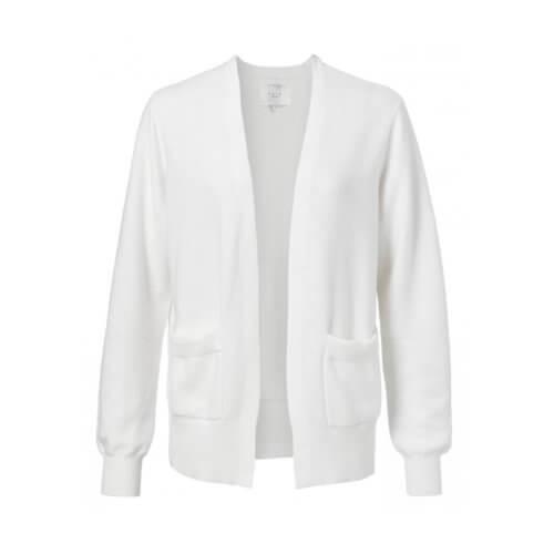 YAYA Cardigan Weiß mit Taschen