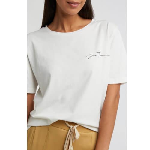 YAYA T-Shirt mit Zitat Weiß