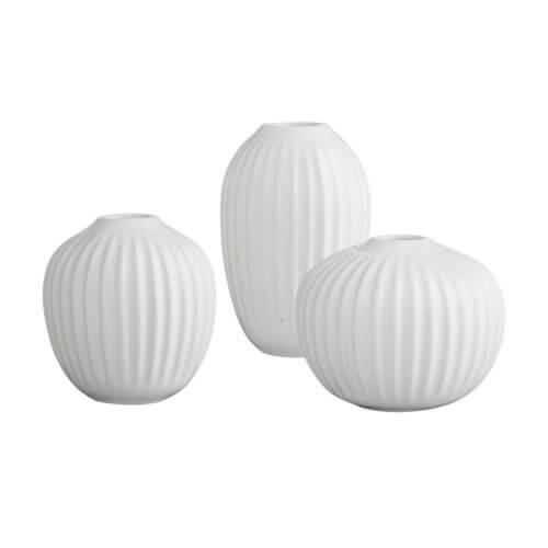 Kähler Hammershøi Vasen-Set Weiß Mini