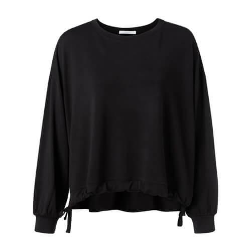 YAYA Modal Sweatshirt Schwarz