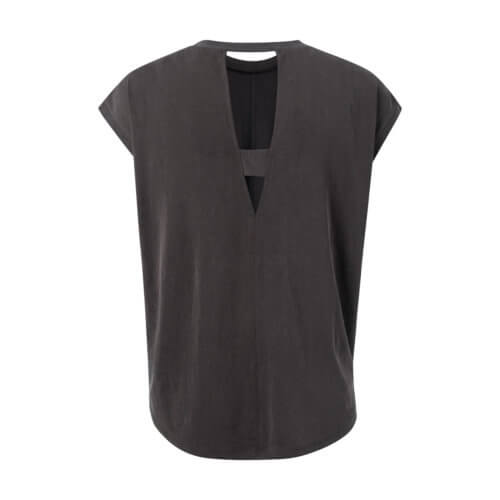 YAYA Modal-Shirt mit Rückenausschnitt Schwarz