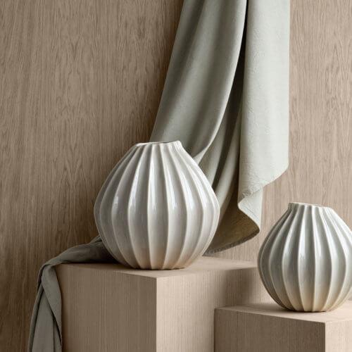 Broste Vase Wide Weiß