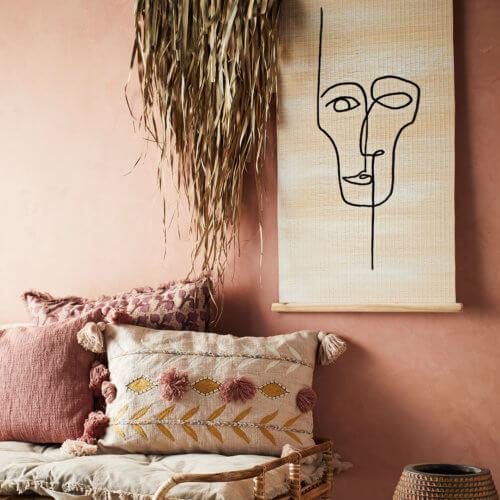 Madam Stoltz Wand-Dekoration S aus Palmenblätter