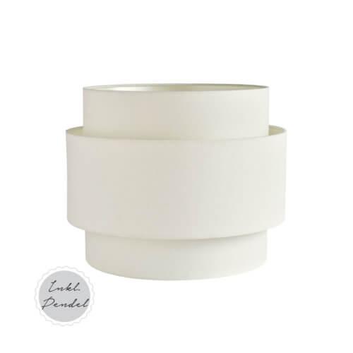 TineK Lampe Weiß L inkl. Pendel