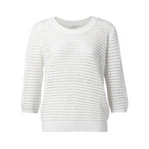 YAYA Pullover Strukturstrick Weiß