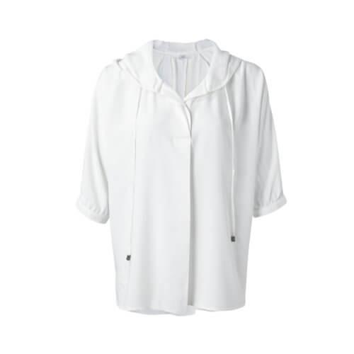 YAYA Kapuzen-Bluse Weiß
