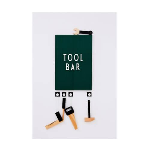 Design Letters Buchstaben-Set Weiß (Large) auf grünem Board