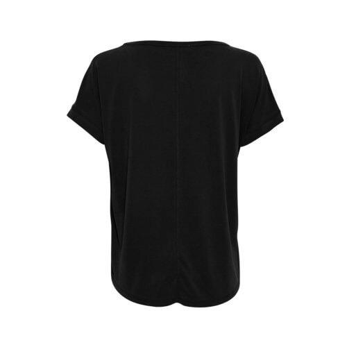 Moss Copenhagen Modal-Shirt Schwarz