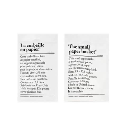Papiersack XS Le corbille en papier