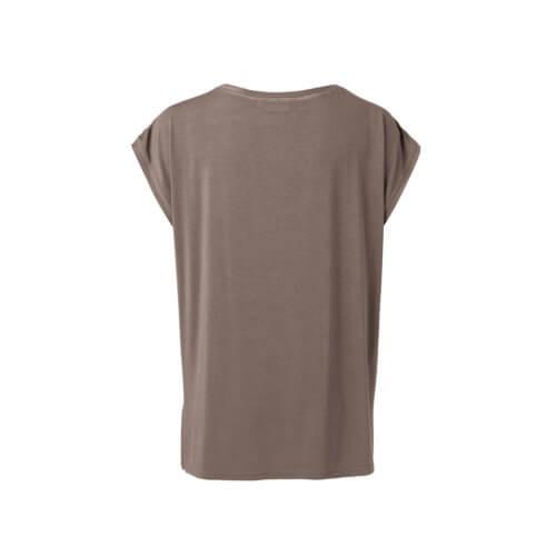 YAYA Cupro-Shirt Braun