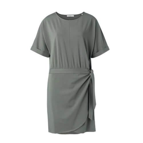 YAYA Modal Kleid Grün-Grau