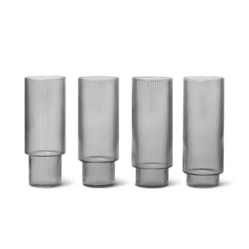 ferm Ripple Longdrink-Glas Smoke