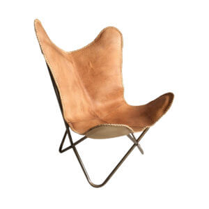 Butterfly Chair Cognac
