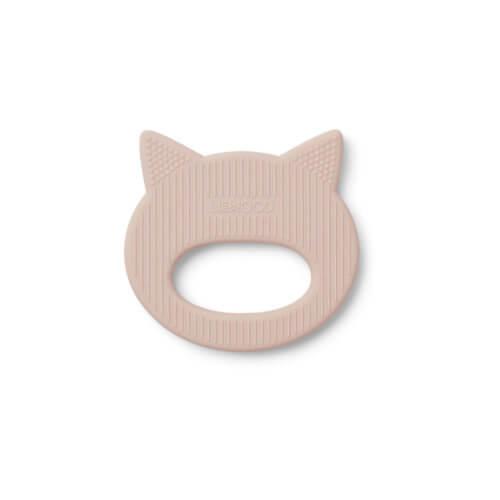 LIEWOOD Silikon-Beißring Katze Rosé