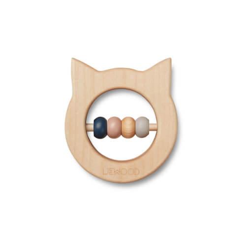 LIEWOOD Holz-Beißring Katze