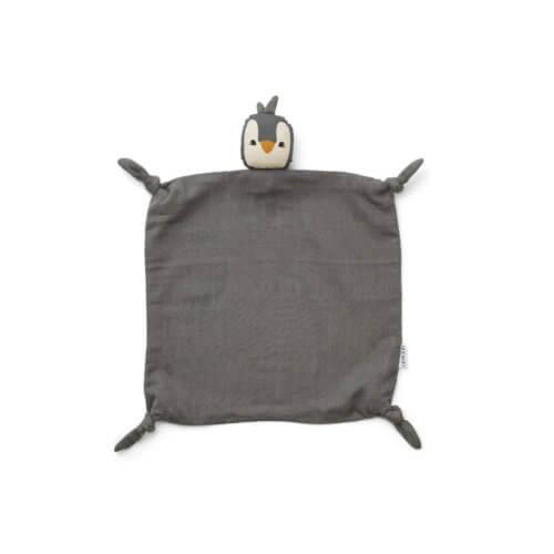 LIEWOOD Schnuffeltuch Pinguin Grau