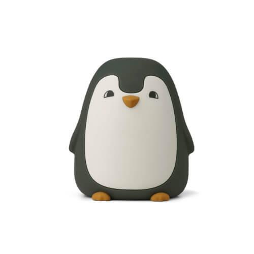 LIEWOOD Nachtlicht Pinguin Dunkelgrün