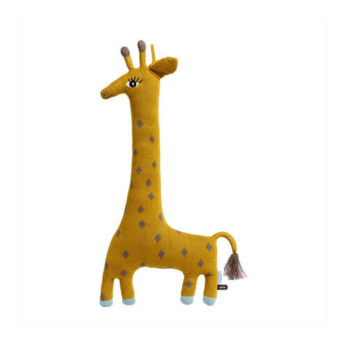 OYOY Kuscheltier Giraffe Mustard