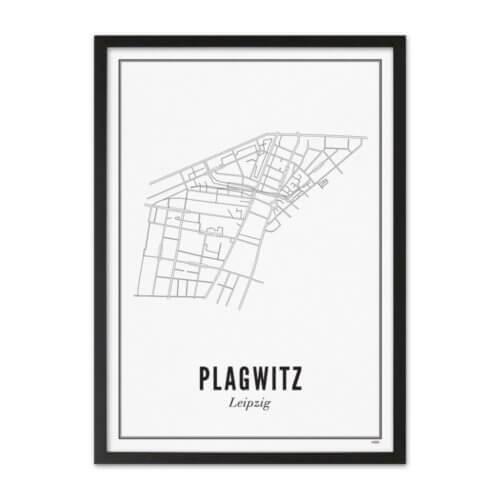 Stadtplan Leipzig Plagwitz Poster A3