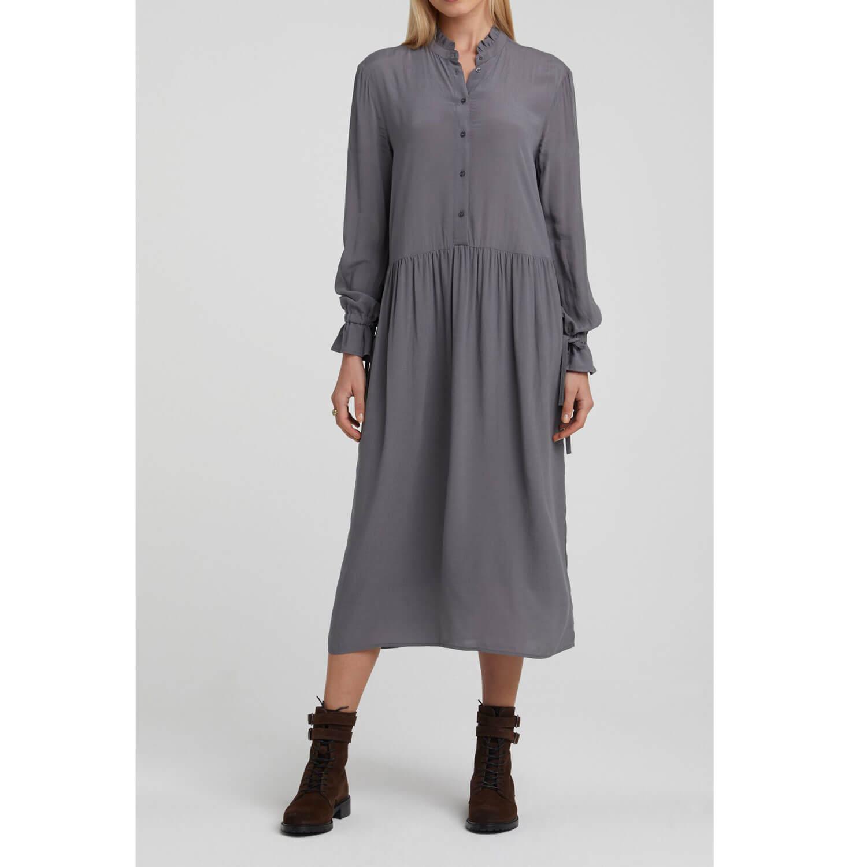 YAYA Viskose-Kleid Grau - Mehr YAYA Fashion im Shop
