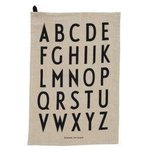 Design Letters Geschirrtuch Beige A-Z (2er Set)