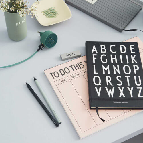 Design Letters Notizbuch ABC