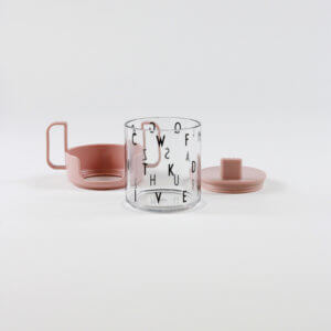 Design Letters Becher-Set Transpart