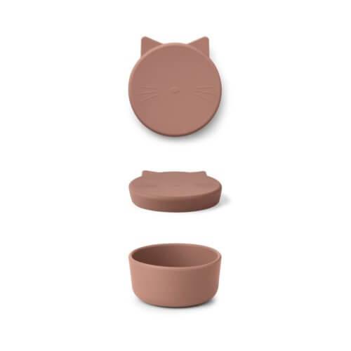 LIEWOOD Snack-Box Katze Altrosa