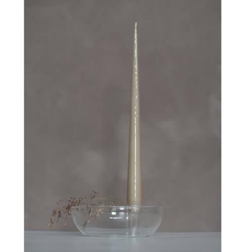 Storefactory Kerzenhalter Lidatorp Glas, mit großer Kerze