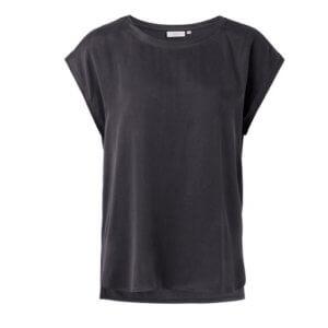 YAYA Cupro-Shirt Dunkelgrau