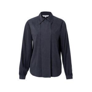 YAYA Cupro-Bluse Nachtblau