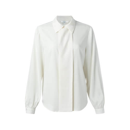 YAYA Cupro-Bluse Weiß