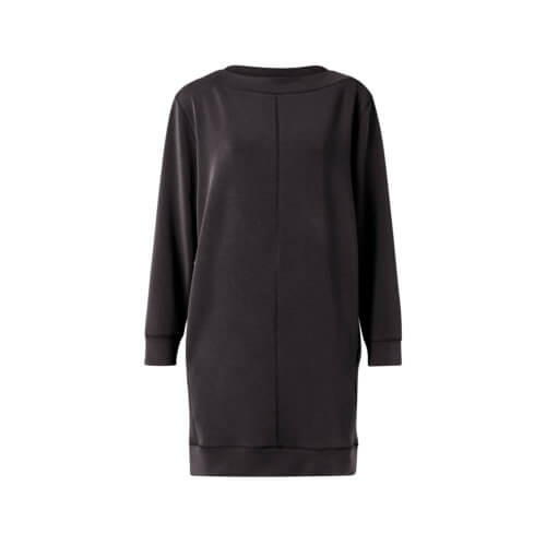 YAYA Modal-Kleid Schwarz, frontal