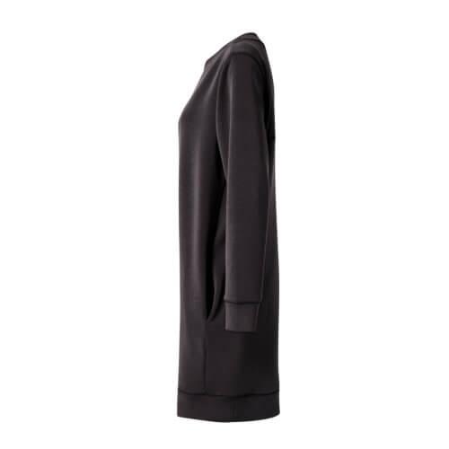 YAYA Modal-Kleid Schwarz, seitlich