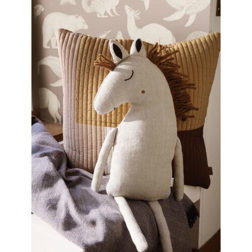 ferm Safarki Kissen Pferd Natur, Detail