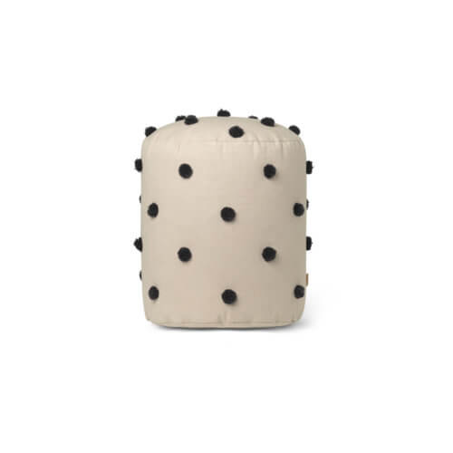 ferm Dot Tufted Pouf Sand