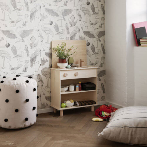 ferm Dot Tufted Pouf Sand, Kinderzimmer