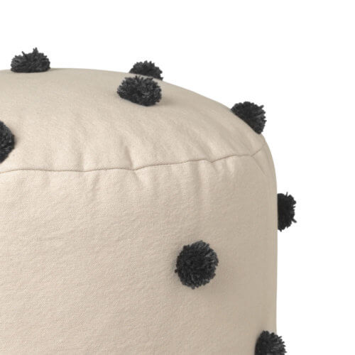 ferm Dot Tufted Pouf Sand, Detail