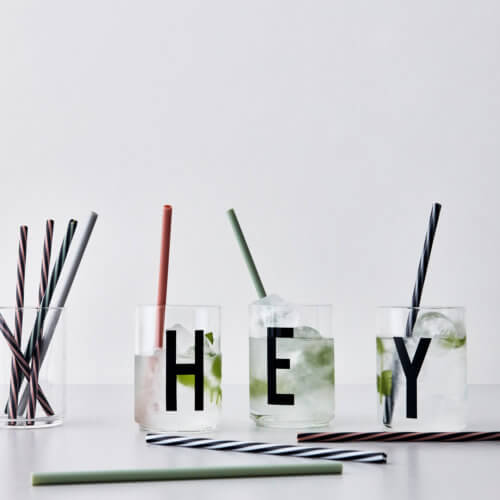 Design Letters Strohhalme Set