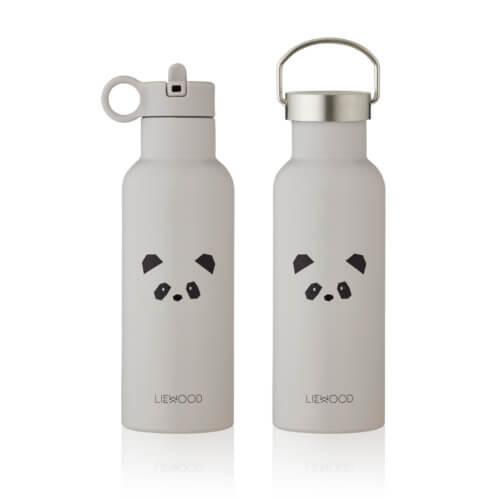 LIEWOOD Thermosflasche Panda Grau