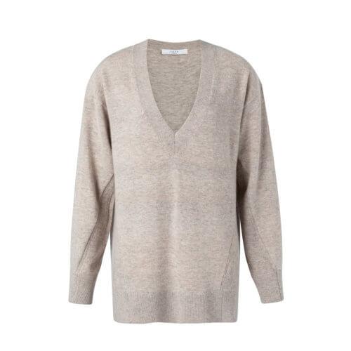 YAYA Woll-Pullover Taupe