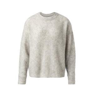 YAYA Mohair-Wolle Pullover Hellgrau