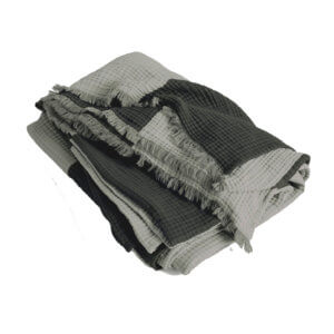 HAY Crinkle Stripe Plaid Grau-Grün