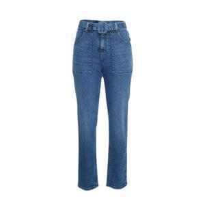 Moss Copenhagen Mom-Jeans Blau