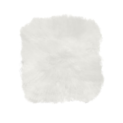 Cozy Living Schaffell Sitzkissen Quadratisch Weiß