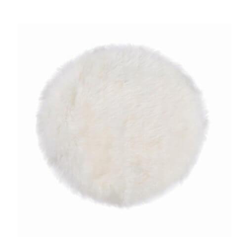 Cozy Living Schaffell Sitzkissen Rund Weiß