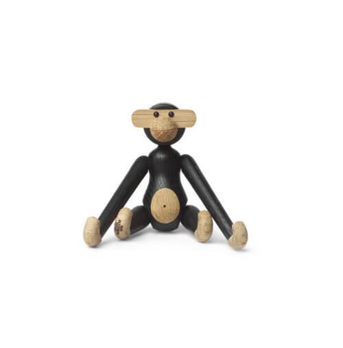 Kay Bojesen Holzfigur Affe schwarze Eiche Mini