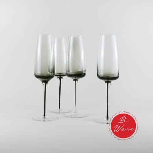 Broste B-Ware Champagnerglas Smoke 4er Set